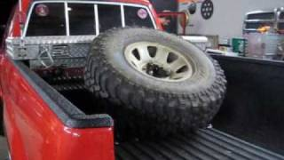 Toyota 4x4: Bed Mount Angled Spare Tire Carrier