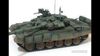 프라모델 조립 도색 완성작 Russian Tank T-…