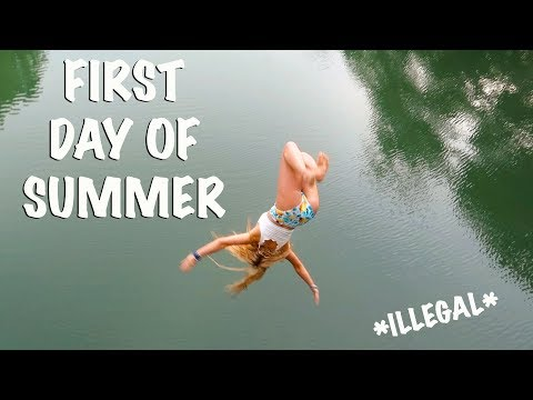 BACKFLIPS OFF A BRIDGE *ILLEGAL* 1ST DAY OF SUMMER!