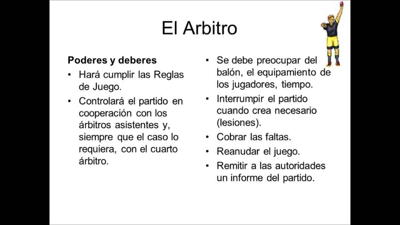 Reglas b sicas del futbol youtube for 5 reglas del futbol de salon