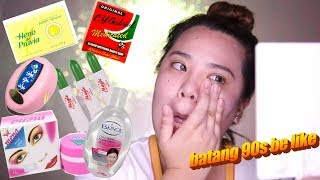 TRYING OUT 90s BEAUTY PRODUCTS FOR THE FIRST TIME!   HelenOnFleek