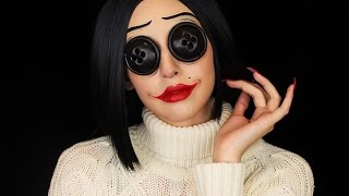 Coraline Other Mother Makeup Halloween 2016 Youtube