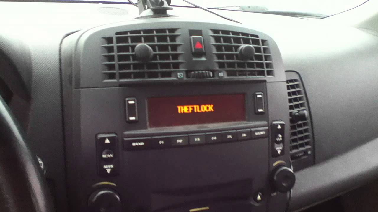 Theftlock Youtube 2005 Cadillac Srx I Need The Wiring Diagramcenter Consoleharness