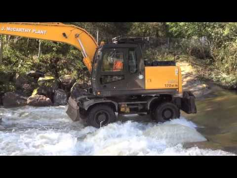 Hyundai R170W-7A Rubber Duck Working In A River