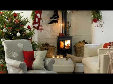 step inside a modern country style home thats dressed for christmas