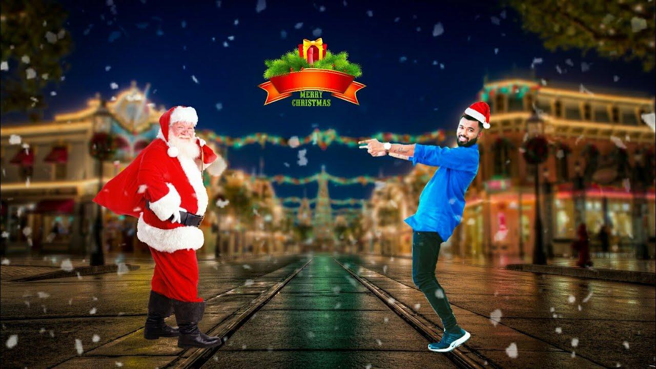 christmas photo editing merry christmas picsart manipulation tutorialsanta claus picsart tutorial