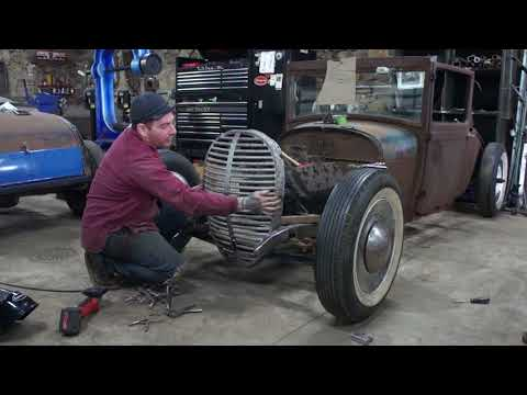 How To Chop A 1938 1939 Ford Pickup Grill To Fit A Hot Rod Model A