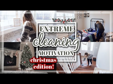 ALL WEEKEND ULTIMATE CLEAN WITH ME 2019 / EXTREME CLEANING MOTIVATION / CHRISTMAS DECORATE WITH ME