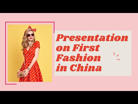 Presentation on Fast Fashion in China.