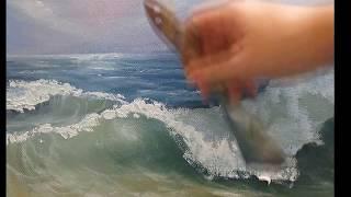 видео урок рисуем море