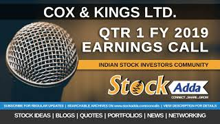 Cox and Kings Ltd Investors Conference Call Qtr1 FY19