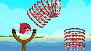 Angry Birds Slingshot Fun 2 - SHOOT TERENCE THROUGH ALL RINGS GAMEPLAY WALKTHROUGH!!