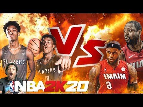 NBA 2K20 BRONNY JAMES & ZAIRE VS LEBRON & WADE!! INSANE GAME |