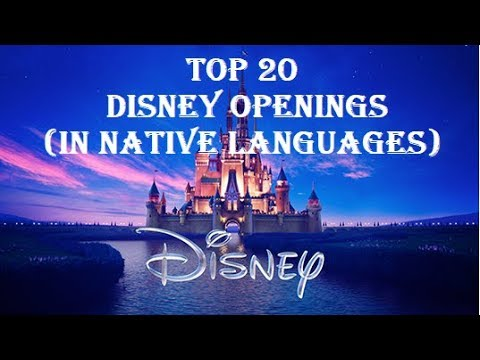 TOP Disney Openings In Native Languages YouTube - Top 20 languages in the world