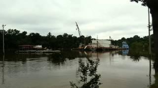 Ouachita River Flood waters at Camden Arkansas May 20, 2015