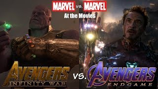 Avengers: Endgame vs. Avengers: Infinity War - Marvel vs. Marvel At the Movies.