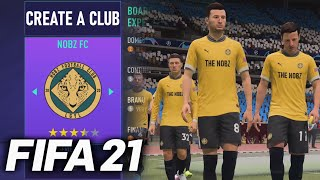 HOW TO CREATE A CLUB IN FIFA 21 FULL TUTORIAL PC ONLY