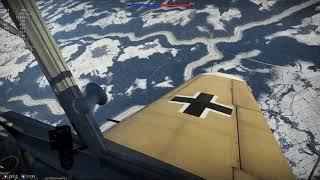 Bf109 vs P-47s War Thunder Sim Battle