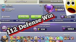 WTF Impossible 112 Defense Win In Legend  League?