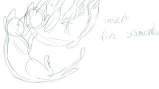 moth's wings rough sketch