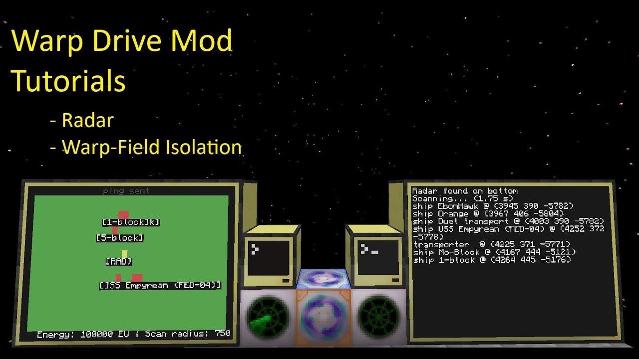 minecraft warpdrive mod