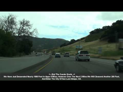 US 101 San Luis Obispo, CA The Cuesta Grade