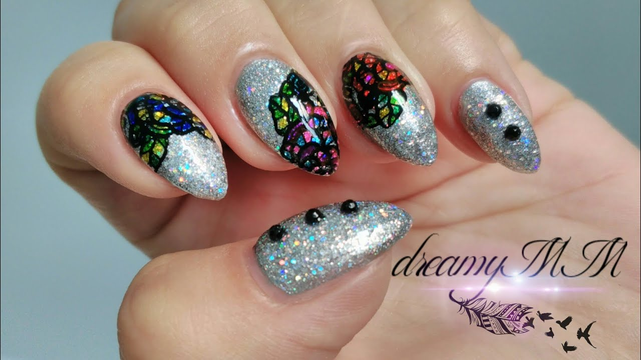 Stained glass nail polish flowers papillon day spa stained glass nail polish flowers izmirmasajfo