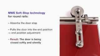Раздвижные стеклянные двери с технологией Soft Stop MWE(Купить стеклянные раздвижные двери (откатные, межкомнатные, для душа, для ванной комнаты) с фото и ценами..., 2015-01-07T16:54:15.000Z)