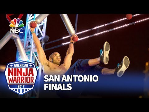 Karsten Williams at the San Antonio City Finals - American Ninja Warrior 2017