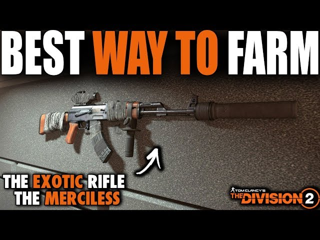 BEST WAY TO FARM THE EXOTIC RIFLE MERCELISS IN THE DIVISION 2 | THE RIFLE THAT MAKES THE RAID EASY