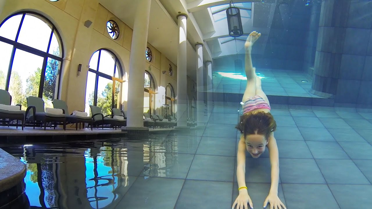 Big Houses With Pools Inside carla underwater - amazing inside swimming pool - youtube
