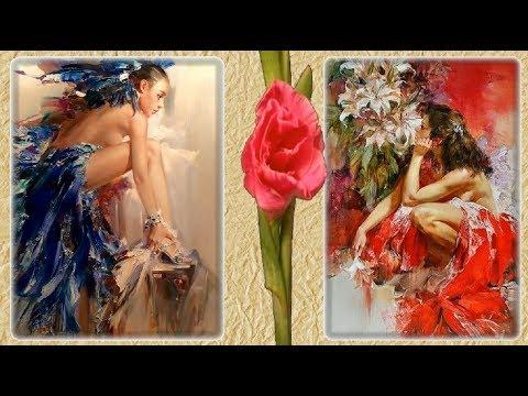 Женщина глазами мужчины Красивые красочные картины художника Ивана Славинского посвященные женщине