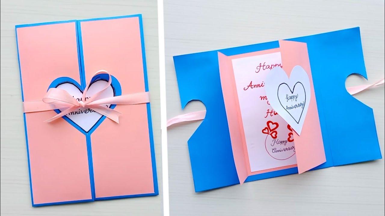 beautiful handmade anniversary card idea  diy greeting