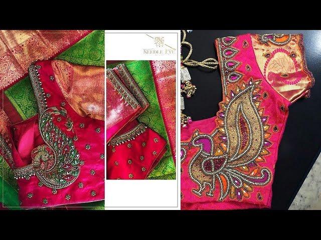 Peacock Maggam Work Blouse Designs 2019