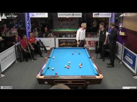 Stuttgart Open 2014, 10 Showmatch Schiller-Eckert vs Hoyh-Staab, Pool-Billard, Cue Sports