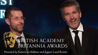Game of Thrones Creators Pay Tribute to Emilia Clarke at the Britannia Awards 2018