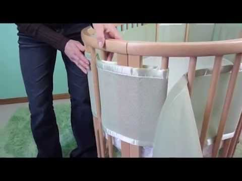 BreathableBaby Mesh Crib Liner - How To Install On An Oval Crib | BabySecurity
