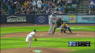 Dodgers vs Brewers Highlights   4/21/19