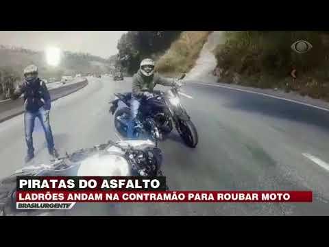 Ladrões andam na contramão para roubar moto em rodovia