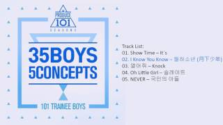 mini album produce 101 s2 – 35 boys 5 concepts