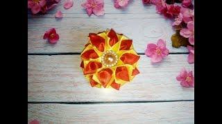 Цветы из лент канзаши. Как сделать цветы из лент. Канзаши. Цветы  из лент.