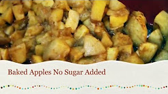 Baked Apples No Sugar Added Only 3 Ingredients