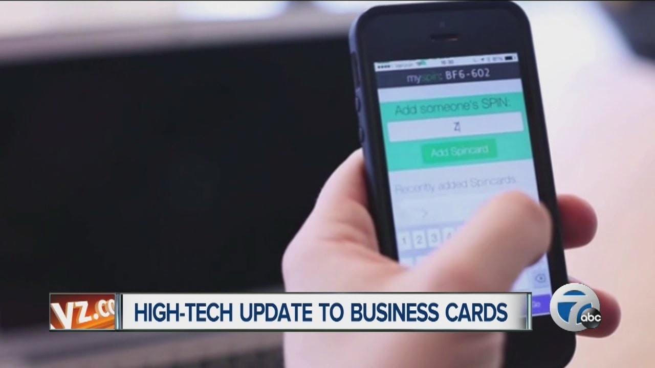 Spin Card app: High-tech update to business cards - YouTube