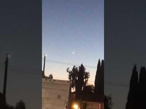 Ramadan 2018 moon sighted,video taken near madras cafe,Sunnyvale,ca,USA