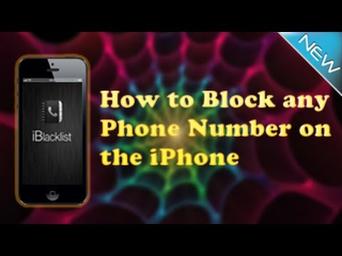 how to block any phone number on an iphone jailbreak required youtube. Black Bedroom Furniture Sets. Home Design Ideas