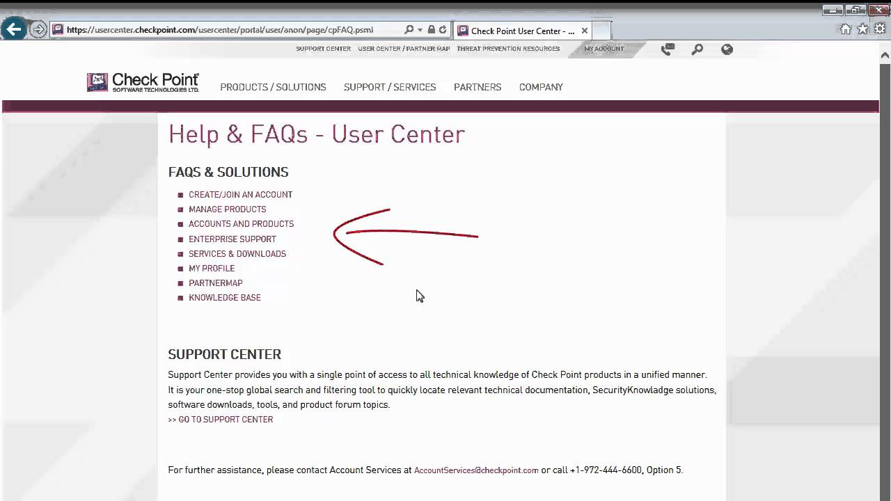 01 - First Login to Check Point User Center