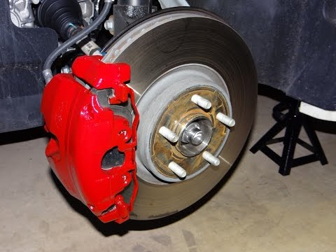 How To Paint Brake Calipers Red Youtube