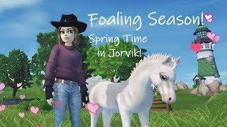 Foaling Season! Spring Time in Jorvik! #58 Star Stable Online 💐