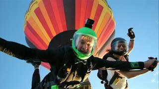 Hot air balloon wedding THEN skydive!