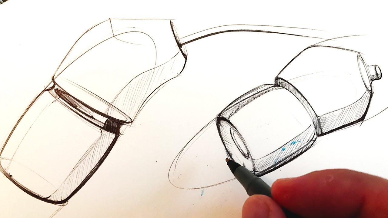 Sketching headphones with bic pen part 1
